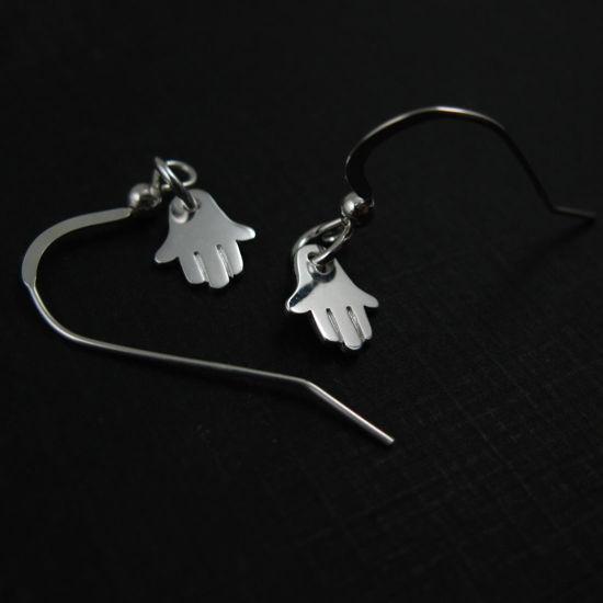 925 Sterling Silver Earrings- Hasma Hand Charm