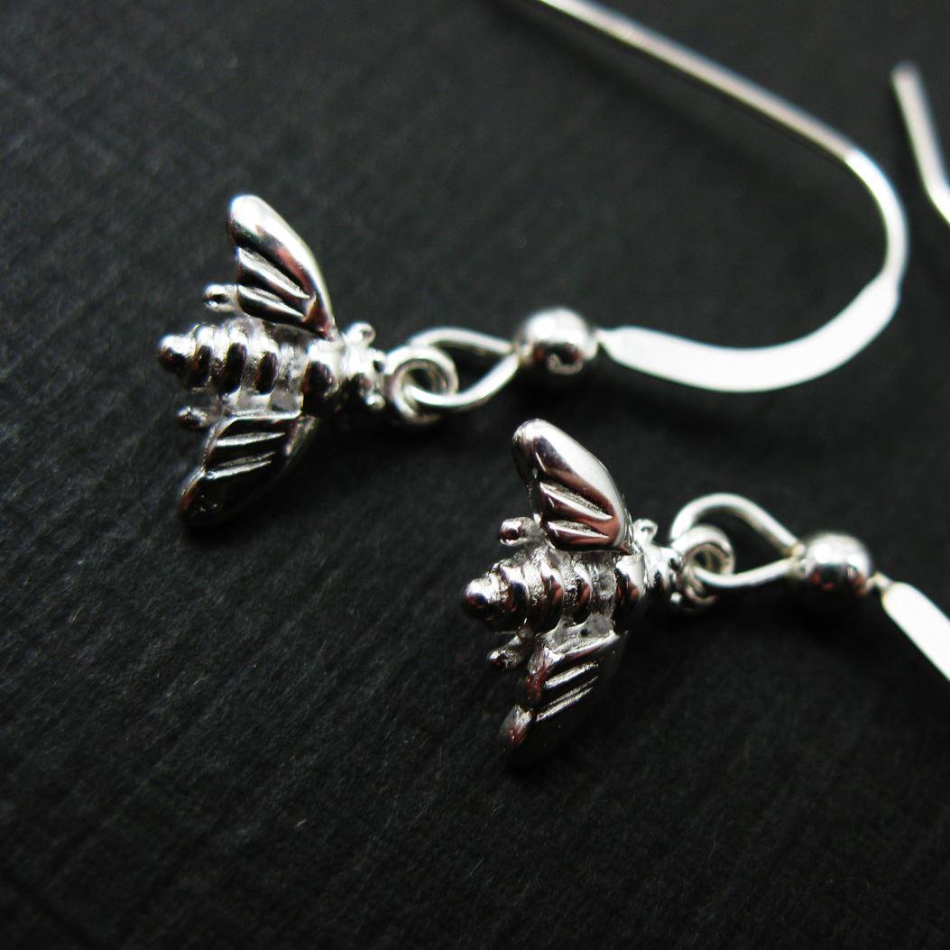 925 Sterling Silver Earrings-Bumblebee Charm