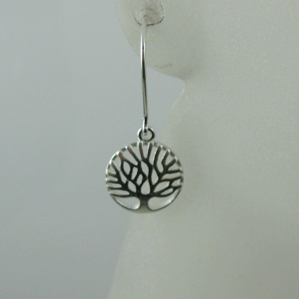 925 Sterling Silver Earrings- Tree of Life Charm