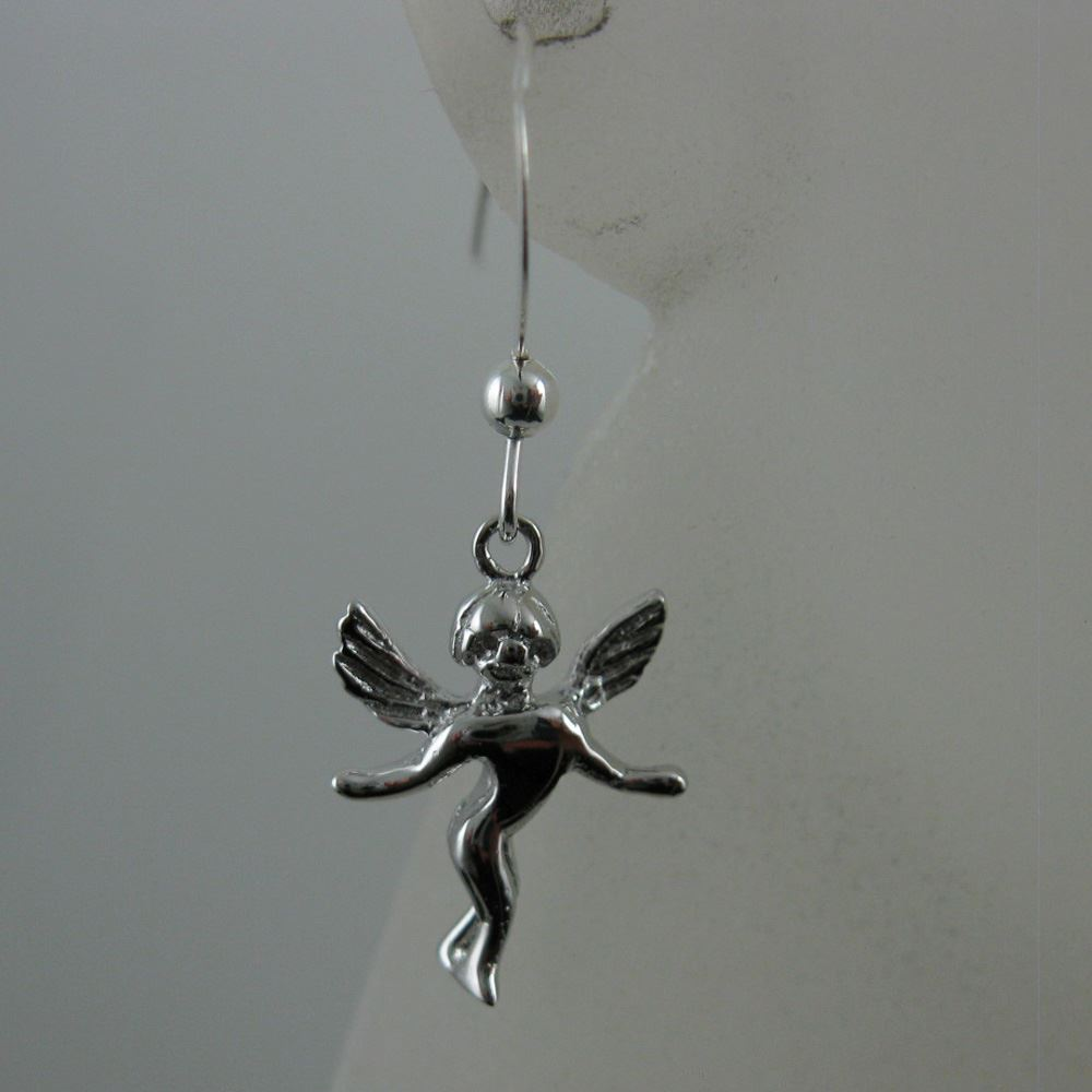 925 Sterling Silver Earrings-Angel Charm