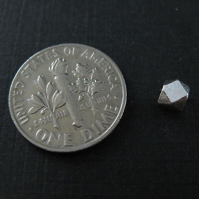 Sterling Silver Faceted Cube Bead - 4mm (Sold Per 10 Pieces)