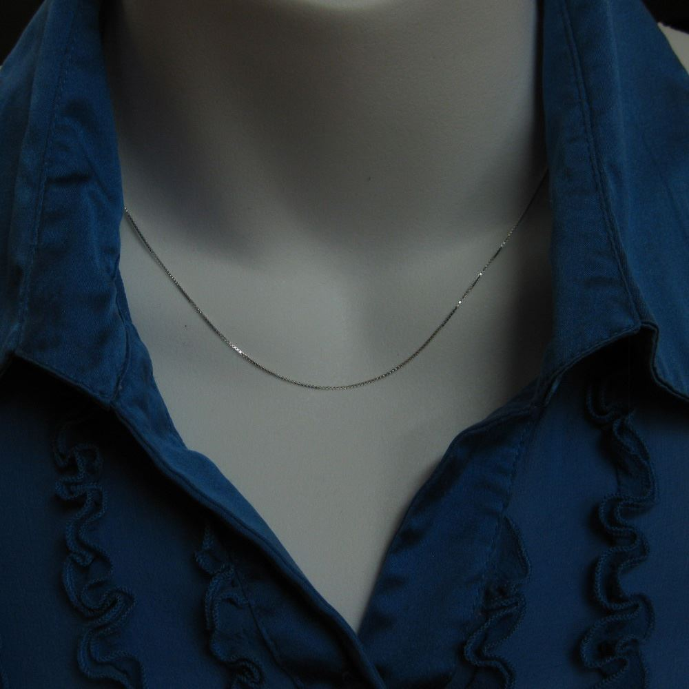 925 Sterling Silver Chain Necklace - Box Chain Necklace - Long Necklace - Ready to Wear - 1mm