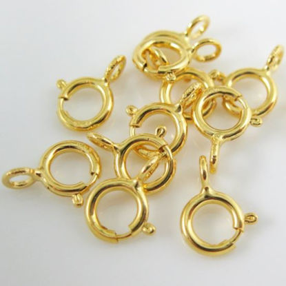 Vermeil 22K Gold Plated over Sterling Silver Spring Ring Clasp 5mm - 10 pieces