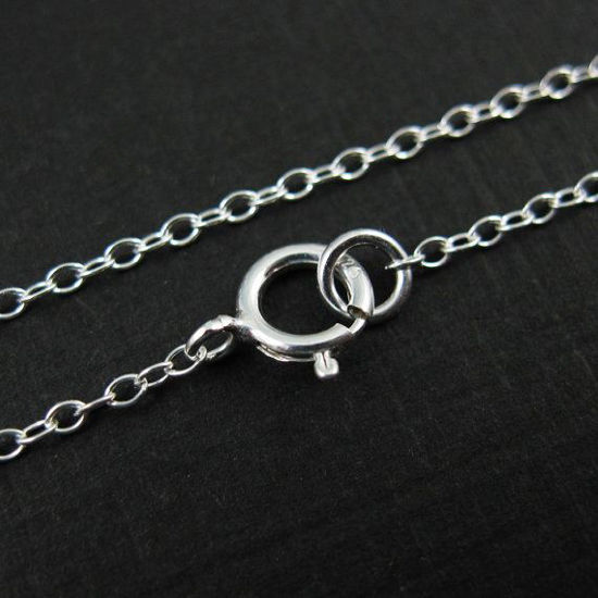 Sterling Silver Necklace Chain - 2mm Cable Chain Necklace ,ITALY - Finished For Pendant  -All Sizes