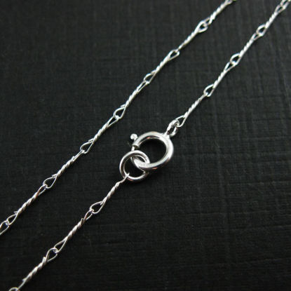 925 Sterling Silver Chain Necklace,Bracelet, Anklet - Fancy Twisted Necklace - Long Necklace Chain - 6.7mm - All Sizes