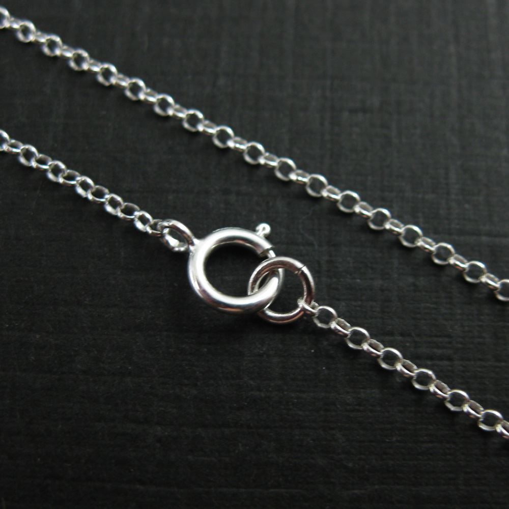 925 Sterling Silver Chain, Necklace, Bracelet. Anklet - 1mm Rolo Chain- Rolo Chain Necklace for Pendant - All Sizes