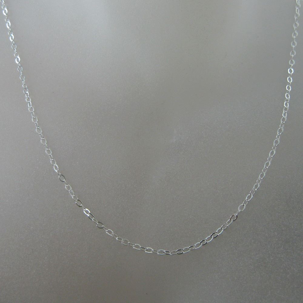 Silver Necklace - 925 Italian Sterling Silver Necklace Chain - 2.5 x 2mm Light Flat Cable - Long Necklace - All Sizes
