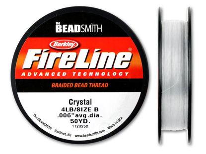 Beadsmith Fireline - Braided Bead Thread - Crystal - 50 Yards (4lb Test)