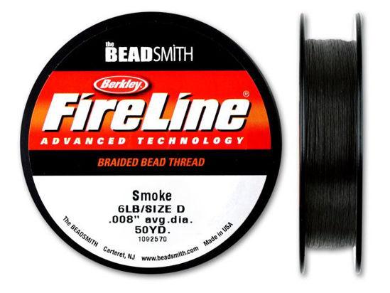 Beadsmith Fireline - Braided Bead Thread - Smoke - 50 Yards (6lb Test)