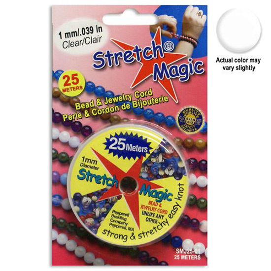 Stretch Magic Beading Cord - 1.0mm - Clear - 25 Meters - For Elastic Bracelets