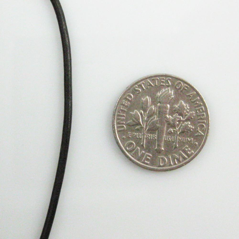 Handmade Leather Cord - Necklaces, Bracelets, Beading - 1.5mm - Dark Brown (5 Meters)