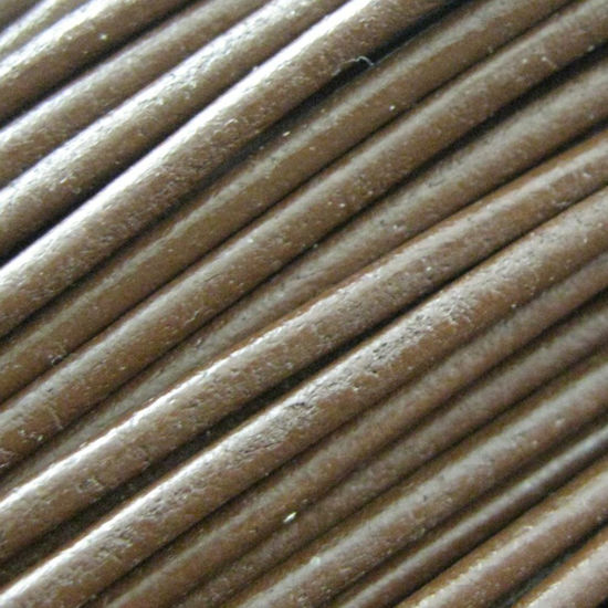 Handmade Leather Cord - Necklaces, Bracelets, Beading - 2mm - Brown (5 Meters)