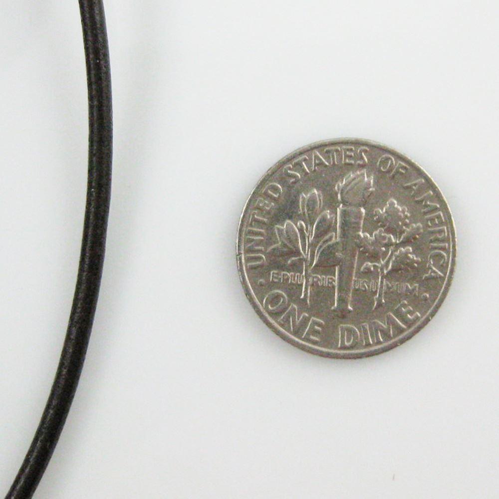 Handmade Leather Cord - Necklaces, Bracelets, Beading - 2mm - Dark Brown (5 Meters)