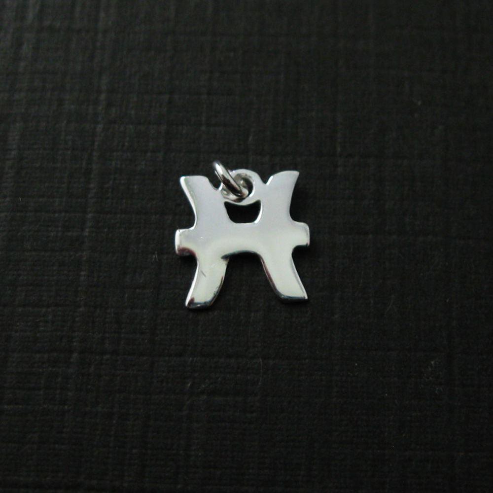Sterling Silver Horoscope Charms, 925 Sterling Silver Zodiac Sign Charm - Zodiac Pendant