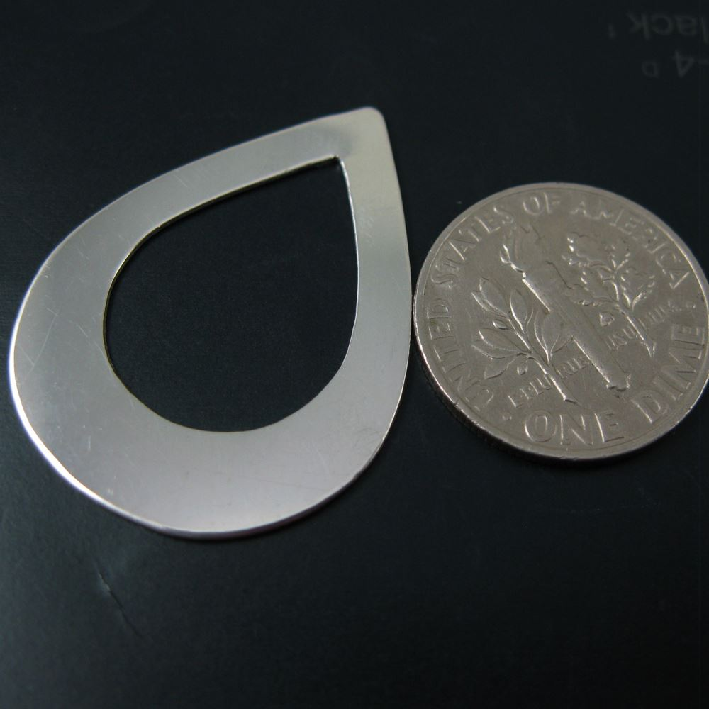 925 Sterling Silver- Teardorp Blanks, Charms , Personalized Jewelry, Stamped Jewelry and Initial Charms- 30mm - 24 Ga