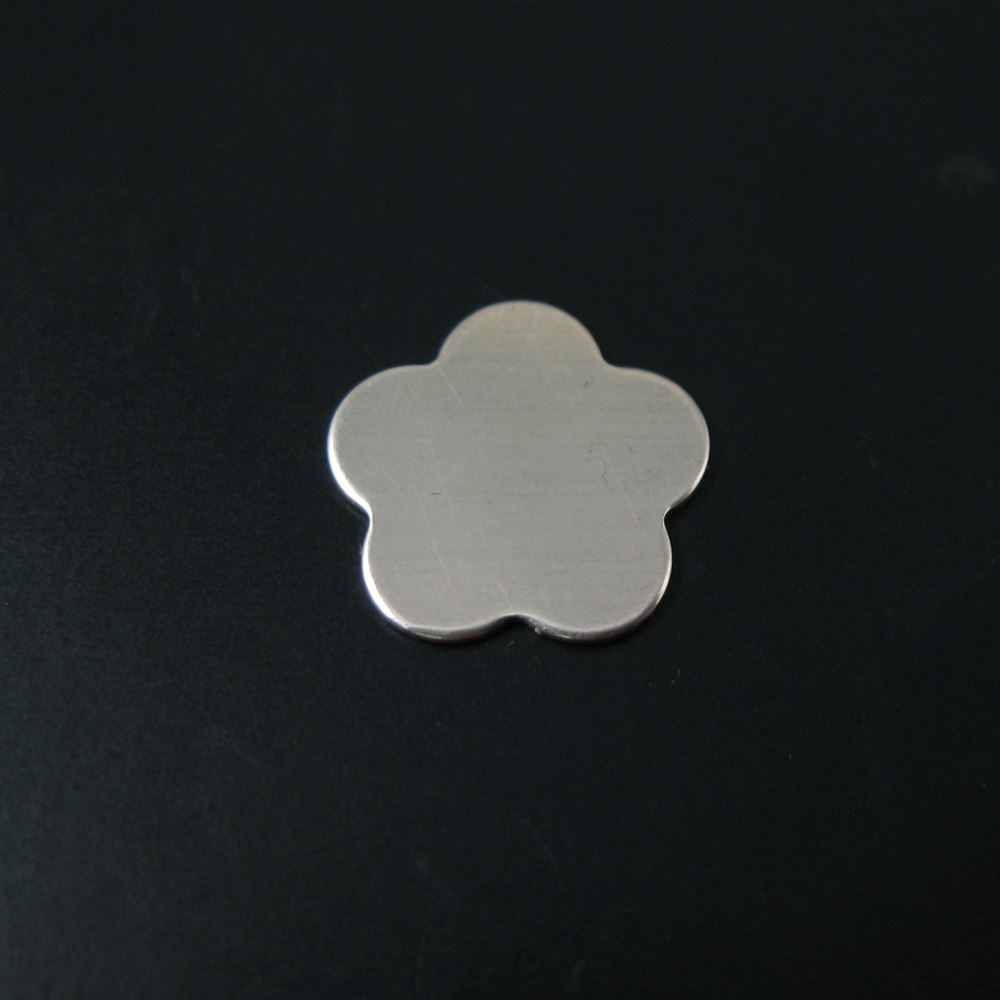 925 Sterling Silver Blank- Flower Blanks, Charms ,Personalized,Stamped Jewelry,Initial Charms- 10.6 mm - 24 Ga ( 3 pcs)