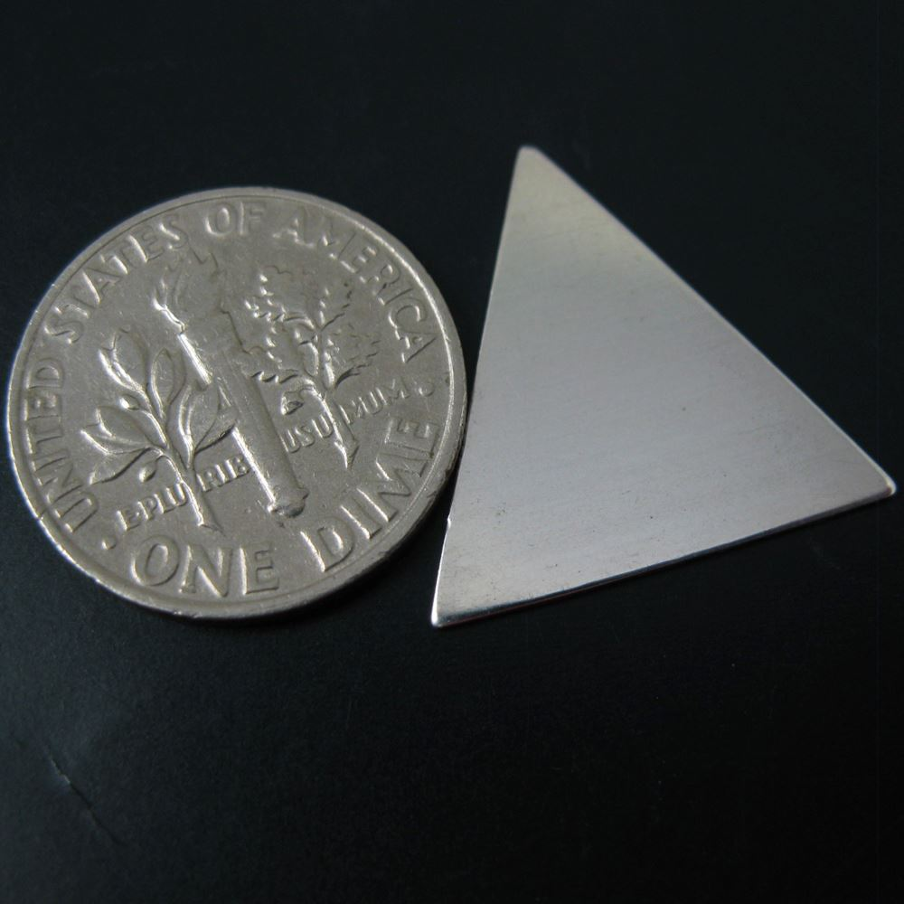 925 Sterling Silver Blank- Triangle Blanks, Charms ,Personalized,Stamped Jewelry,Initial Charms- 18.7 mm - 24 Ga