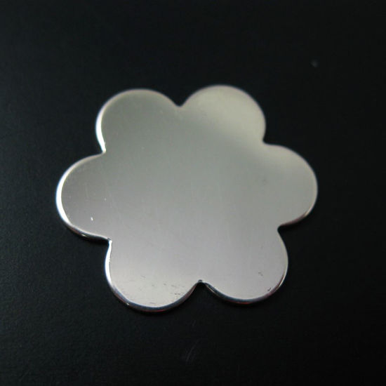 925 Sterling Silver Blank- Big Flower Blanks, Charms ,Personalized,Stamping Jewelry,Initial Charms- 18 mm - 20 Ga -1 pcs