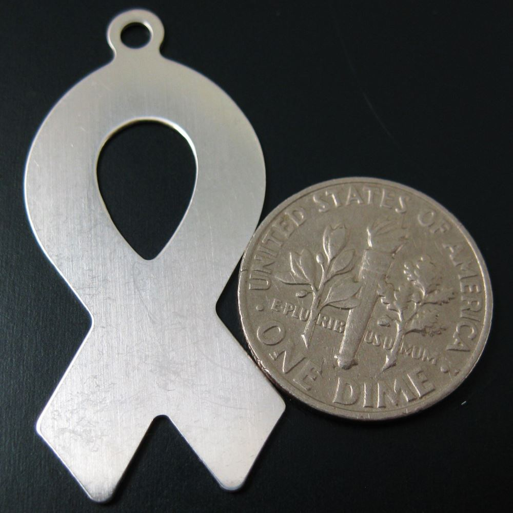 925 Sterling Silver Blank- Ribbon Blanks, Charms ,Personalized,Stamping Jewelry,Initial Charms- 37mm - 24 Ga ( 1 pcs)