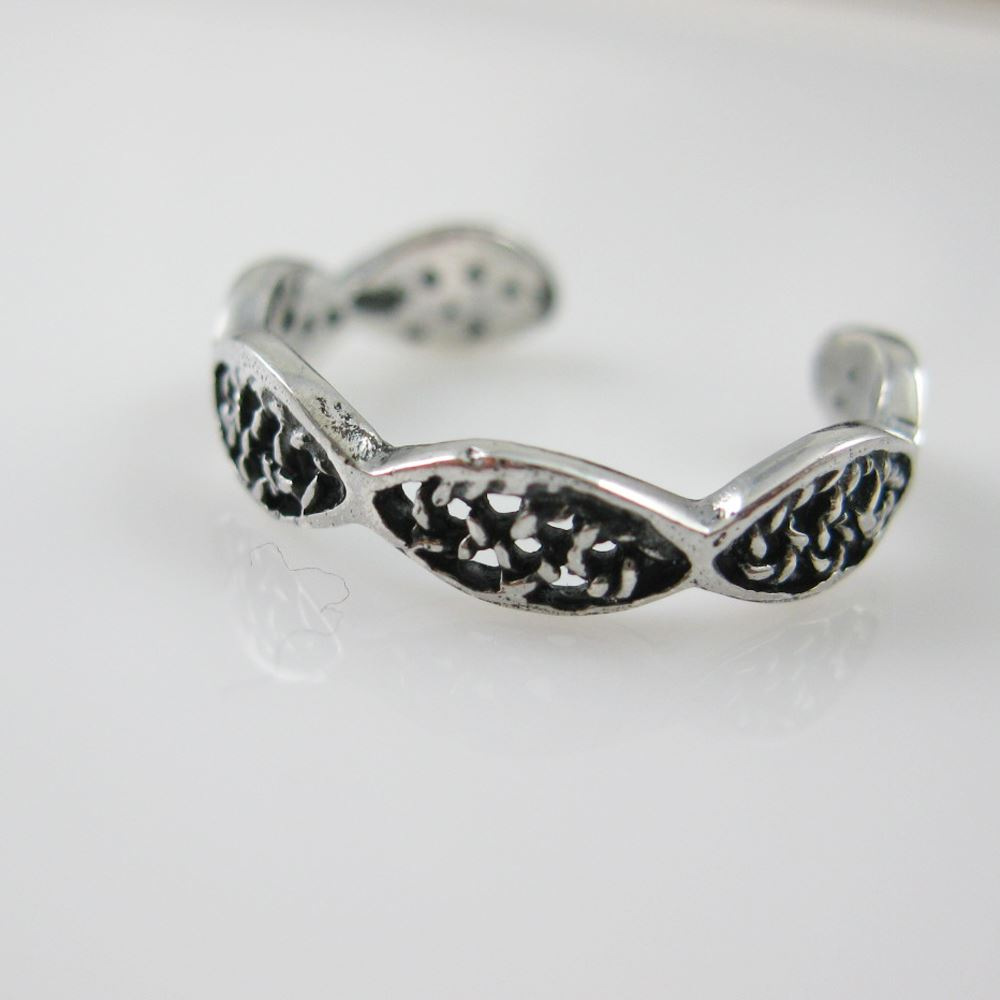 925 Sterling Silver Toe Ring - Filled Infinity Toe Ring-Adjustable Toe Ring