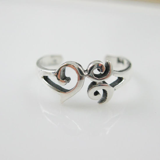 925 Sterling Silver Toe Ring - Whimsical Toe Ring - Adjustable Toe Ring