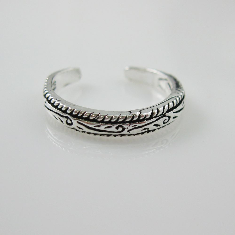 925 Sterling Silver Toe Ring - Artisan Ring - Adjustable Toe Ring