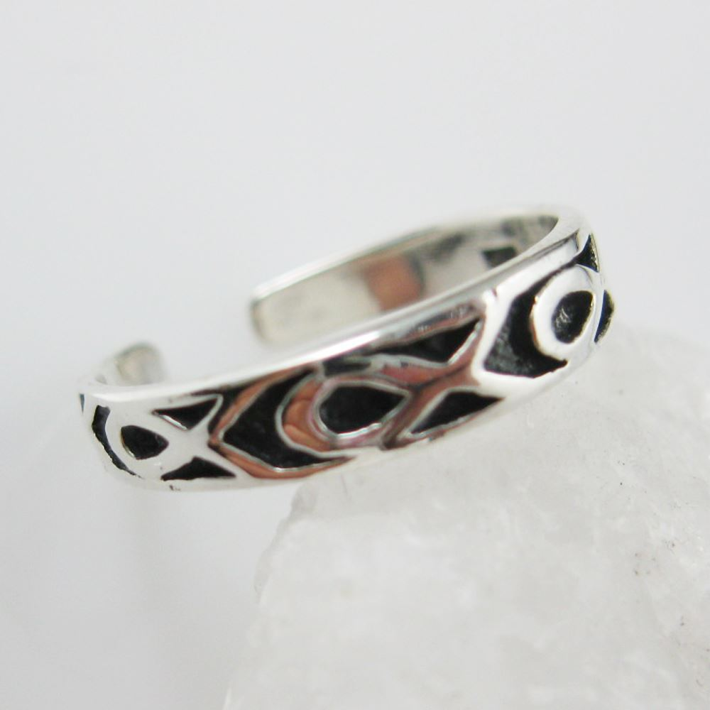 925 Sterling Silver Toe Ring- Ribbon Ring-Adjustable Cancer Awareness Toe Ring