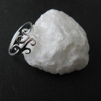 925 Sterling Silver Ring -Vine- Adjustable Ring