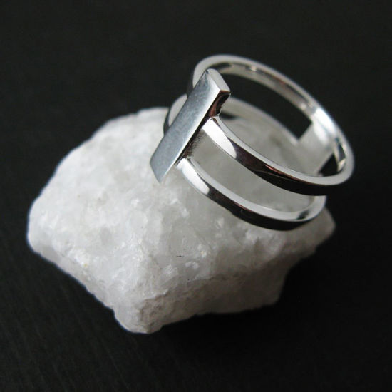 925 Sterling Silver Double Band Ring-Silver Double Banded Ring-Two Banded Ring
