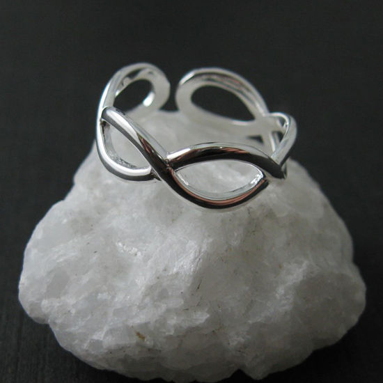 925 Sterling Silver Infinity - Infinity Knot Ring- Infinite Ring - Adjustable Ring