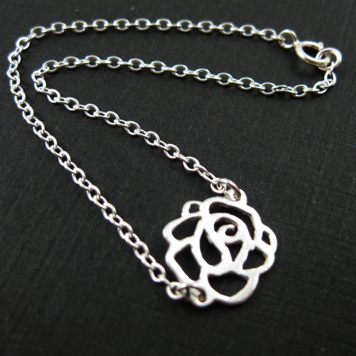 Sterling Silver Bracelet - Sweet Rose