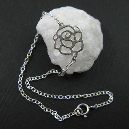 Sterling Silver Bracelet - Sweet Rose
