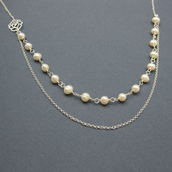 Fresh Water Pearl Necklace , Pearls Necklace , Multi Layers
