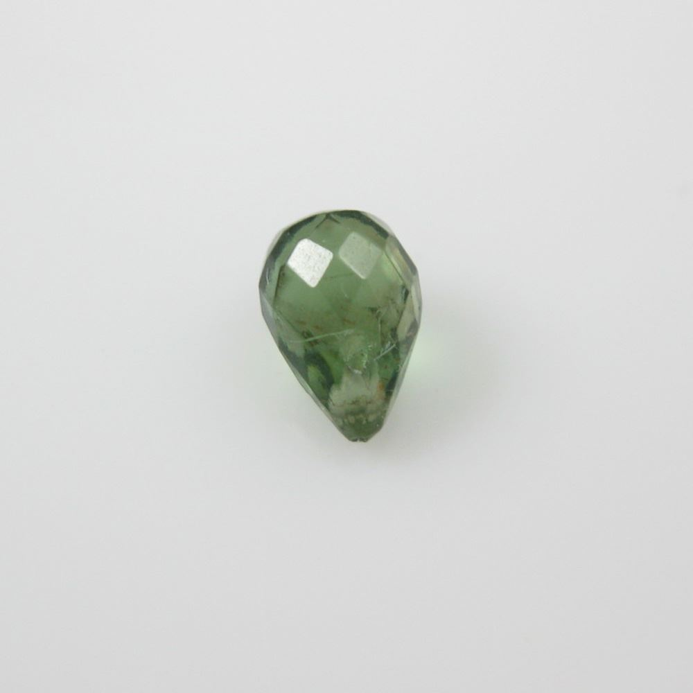 Semiprecious Gemstone Beads -Gemstone Bead Faceted Tear Drop Briolettes- Green Apatite-6mm ( 3 pcs)
