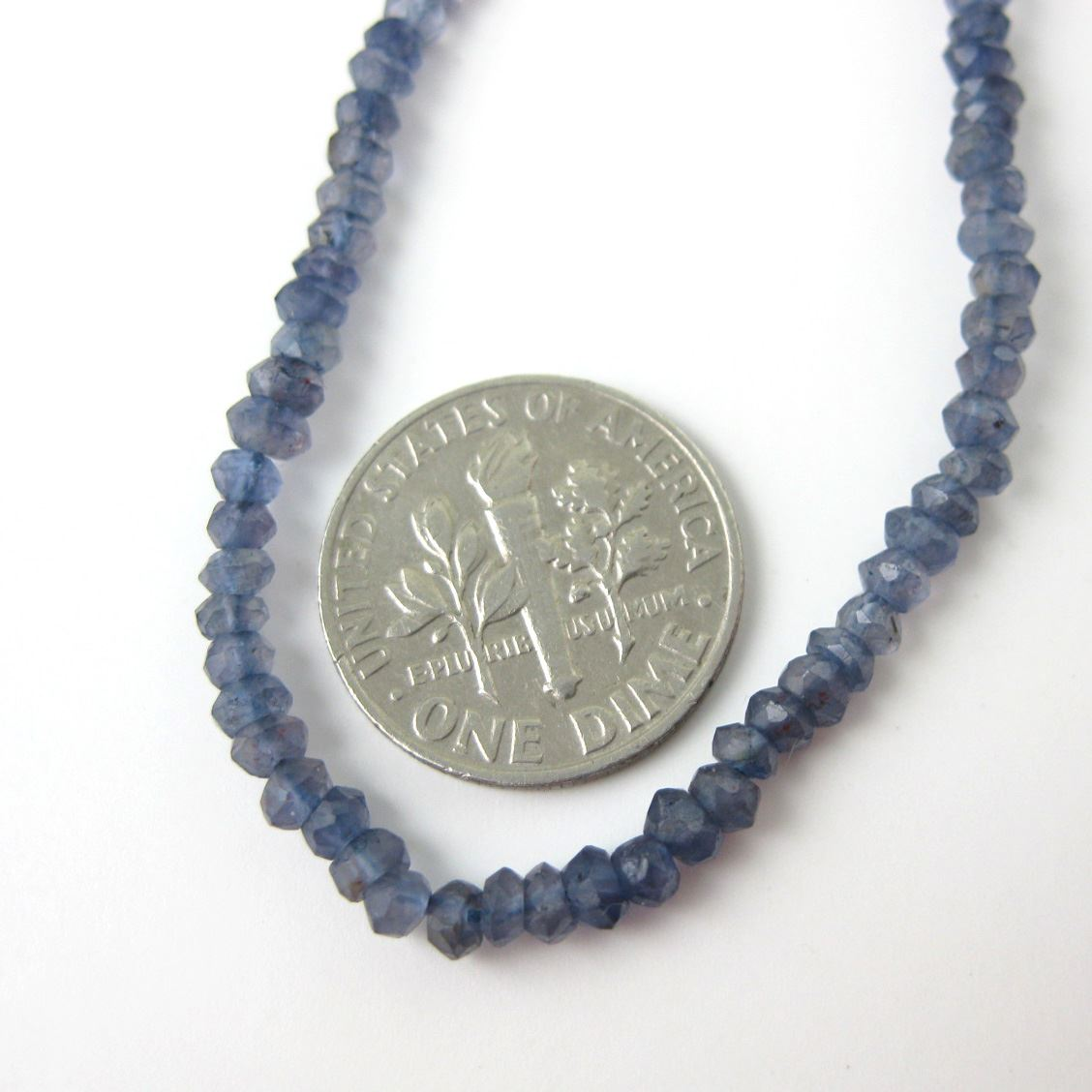 Gemstone beads - Iolite Micro Faceted Rondelle - 3-3.5mm - 13 inches full strand