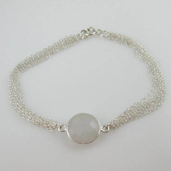 Sterling Silver Bracelet - Rainbow Moonstone Bracelet - June Birthstone