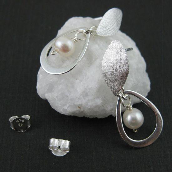 Sterling Silver Pearl Earrings - Freshwater Pearl - June Birthsone