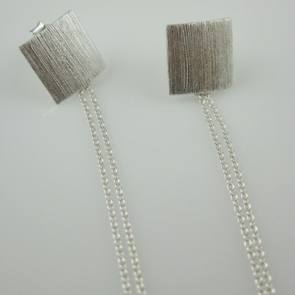 Sterling Silver Earrings - Thin Dangles - Elegant Earrings