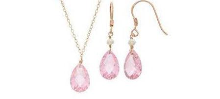 Bezel Gemstone Jewelry Set