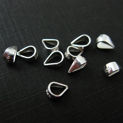 925 Sterling Silver Simple Bail, Closed Bail - sold per 10 pcs