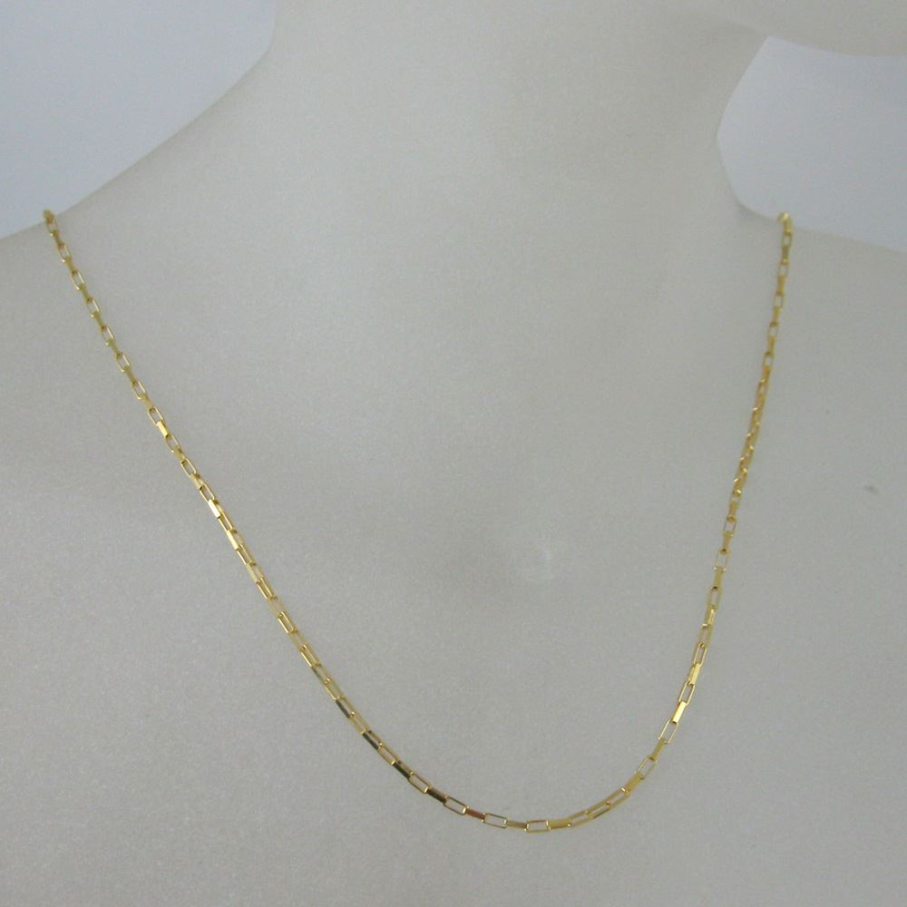 Gold Necklace, Gold Bracelet , Gold Anklet Chain, Vermeil Sterling Silver Chain Necklace - Small Box Chain - Long Necklace - All sizes