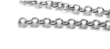 Rhodium Plated Sterling Chain