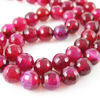 Nature Agate Beads- Fuchsia Agate - Faceted Round 8mm - Sold per strand