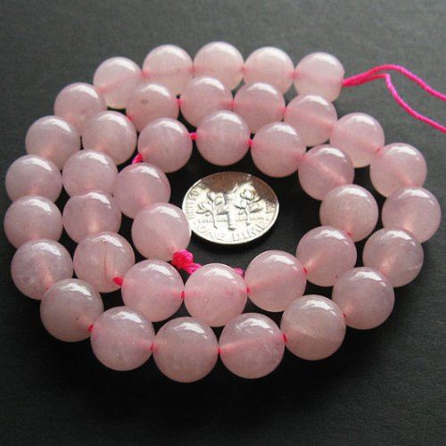 Gemstone Smooth Round Beads, Pink Jade 10mm (Sold Per Strand)