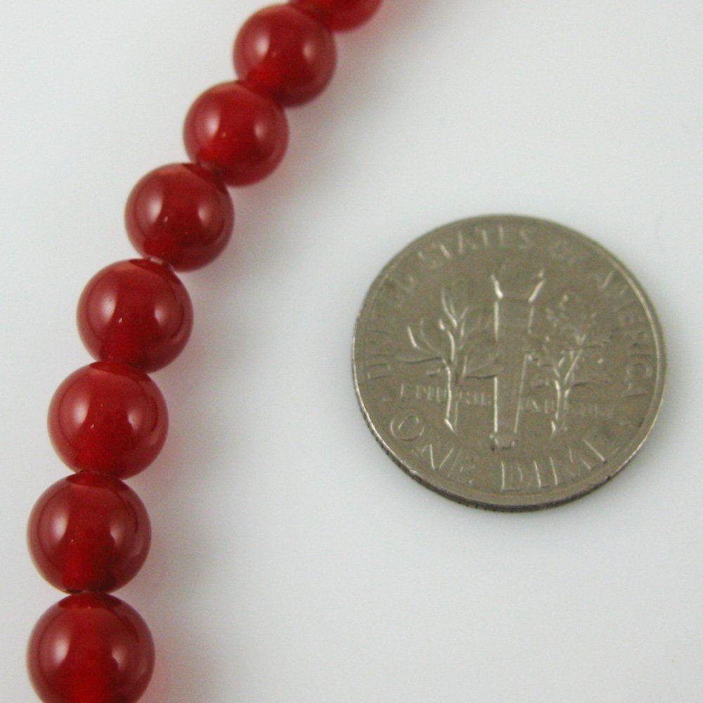 Reddish Brown Jade - Gemstone Smooth Round Beads 6mm (Sold Per Strand)
