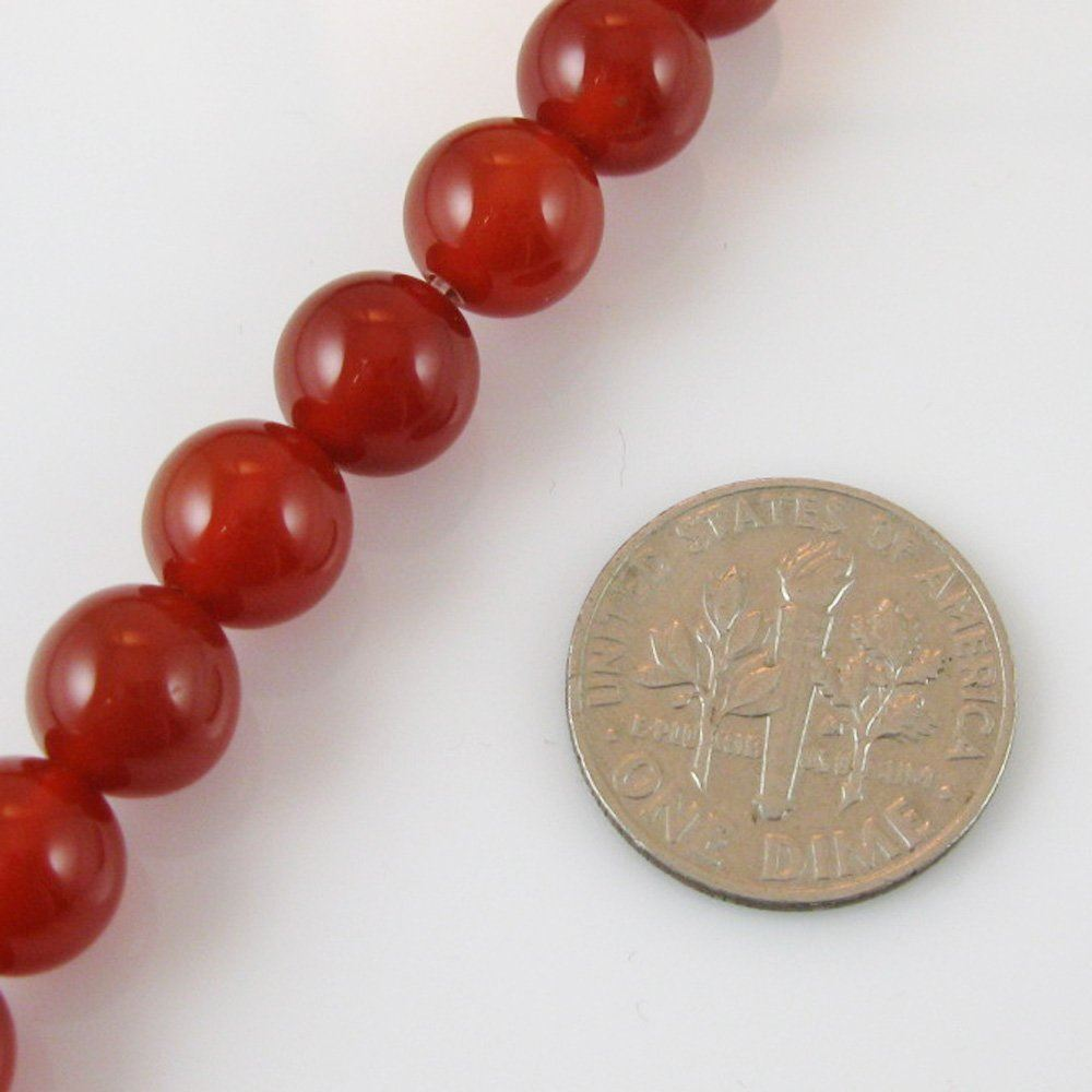Reddish Brown Jade - Gemstone Smooth Round Beads 8mm (Sold Per Strand)