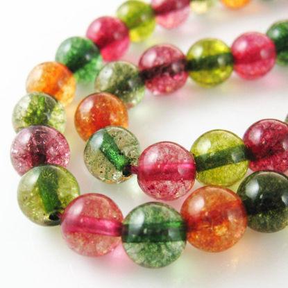 Multi-Coloured Quartz Beads - Smooth Round 8mm  (Sold Per Strand)