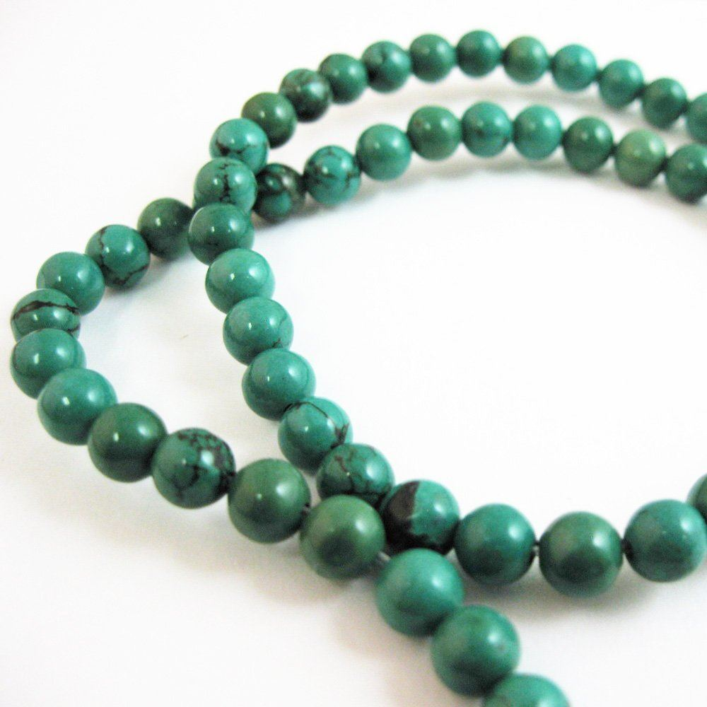 Smooth Round Turquoise Beads - 6mm (Sold Per Strand)