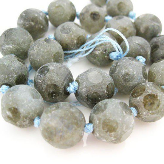 Faceted Round Labradorite Beads - 14mm (Sold Per Strand)