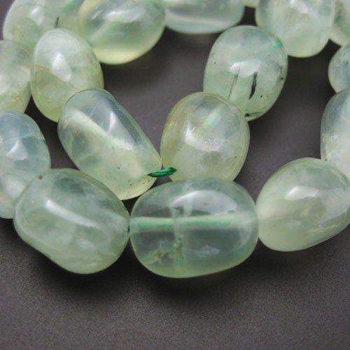 Prehnite Beads - Nature Stone - Freeform Shape (Sold Per Strand)